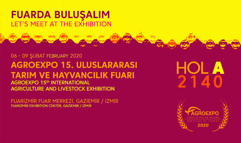 We are in 15th International Agriculture and Livestock Exhibiton.