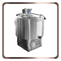 Vertical milk cooling tanks
