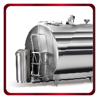 Closed type milk cooling tanks