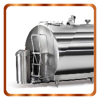 Horizontal milk cooling tanks